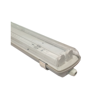 ARMADURA ESTANQUE LED 2X600MM PC/INOX IP65